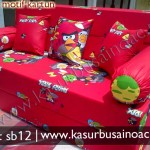 Sofa Bed Angry Bird Merah