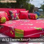 Sofa Bed Motif Angry Bird Merah