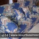 Sofa Bed Motif Batik Biru