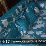 Sofa Bed Motif Bunga Biru Muda