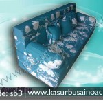 Sofa Bed Motif Daun Hijau