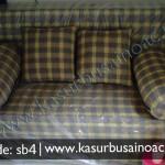 Sofa Bed Motif Kotak Kotak