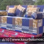 Sofa Bed Motif Tralis Biru