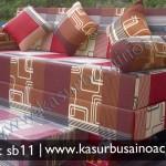 Sofa Bed Motif Tralis Cokelat