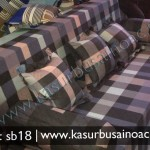 Sofa Bed warna cokelat