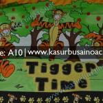 Motif Kasur Busa Anak Anak Tiger Winnie The Pooh