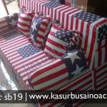 Sofa Bed Motif Bendera Amerika