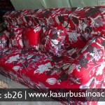 Sofa Bed Motif Bunga Merah