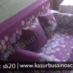 Sofa Bed Motif Bunga Ungu